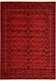 Unique Loom Tekke Collection Tribal Traditional Torkaman Red Area Rug (8′ x 11′) For Sale