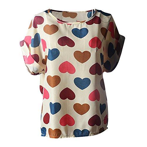 Femme Mousseline Shirts T Fille C Colore ur Soie De tw7txq