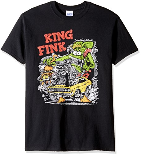 T-Line Men's Ratfink King Fink Graphic T-Shirt, Black, XX-Large