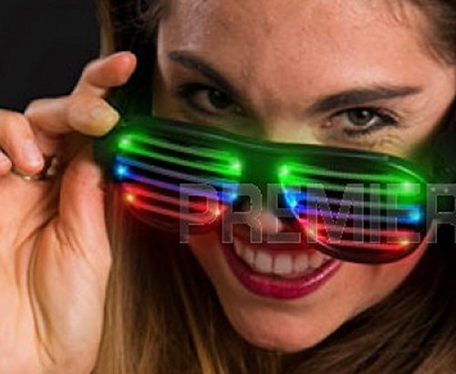 Light Up Flashing Shutter Sound Reactive Shutter Shades Glasses - USB Rechargable - Tons of Fun for That Party! Orders of 2 or More get F R E E - E X T R A S ! ! ! -