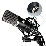 Maono AU-A02 Condenser Podcast Microphone With Shock Mount XLR to 3.5mm Cable for Broadcasting, Studio Recording