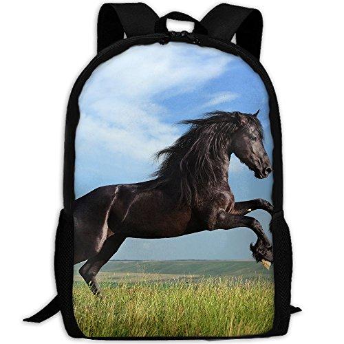 Rape Flowers (Rape Flower Horse Jump Interest Print Custom Unique Casual Backpack School Bag Travel Daypack Gift)