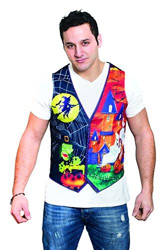 HMS Men's Guys Ugly Halloween Vest, Multi, Small