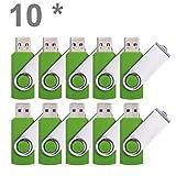 Enfain 8GB USB Flash Drive Pack of 100, Green