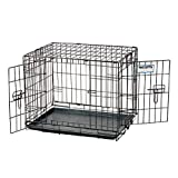 Precision 1127-11274FD 36x23x25-Inch Two Door ProValu2 Crate Cargo Kennel, Black