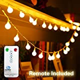 33FT/10M 100 LED Fairy Lights Plug in Low Voltage Waterproof Garden Fairy Light Indoor Outdoor String Lights with Remote & 8 Modes Controller