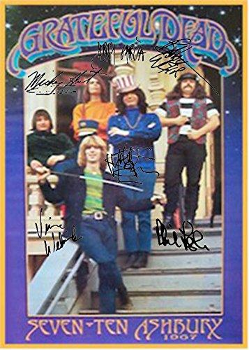 Grateful Dead Autographed Signed Seven Ten Ashbury 1967 Poster Autographed Signed Facsimile