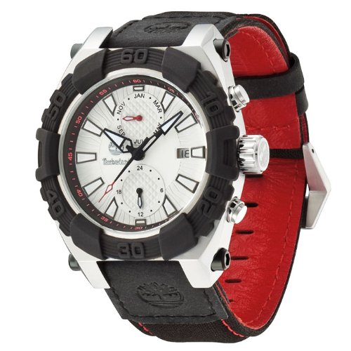 Timberland Men's 13331JSTB_04 Hookset Analog Multifunction 3 Hands Date Month Dual Time Watch