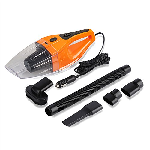 Cheapest Prices! Car Vacuum Cleaner 120W, iTavah 12V 4000PA Suction Portable Handheld Wet Dry Auto H...