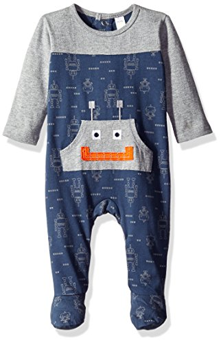 Price comparison product image Petit Lem Baby Boys' One Piece Footed Outfit,  Robot,  9 Months