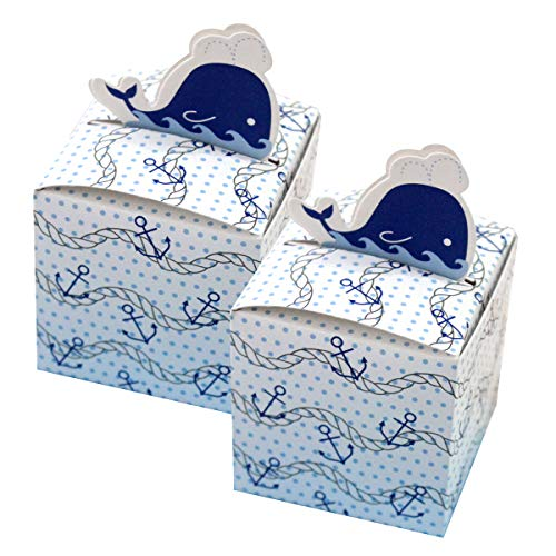 - Amosfun 50 Pcs Candy Boxes Personality Dolphin Anchor Decorated Gift Boxes Wedding Favor Boxes Chocolate Wrappers Party Decoration Supplies