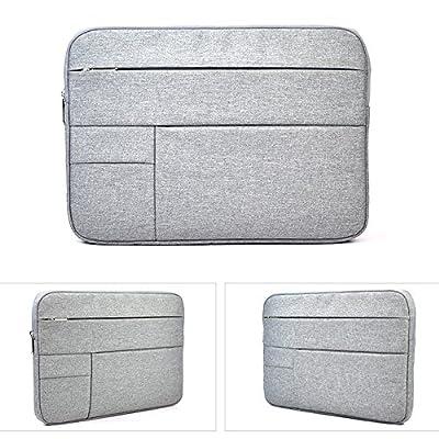 "15.6 Inch Waterproof Laptop Sleeve Bag for Acer Aspire E 15, Acer Chromebook 15, ASUS VivoBook F510UA, Lenovo Ideapad/Yoga 720 15.6, HP 15.6"" Laptop, Dell Inspiron, 15.6 Protective Notebook Bag, Grey"