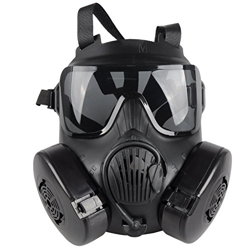 OFTEN Airsoft Protection Dual Fan Gas Mask for Cosplay Protection Zombie Soldiers Halloween Masquerade Resident Evil Antivirus Skull