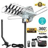 AILUKI Outdoor HDTV Antenna (150 Miles Antenna with Pole)
