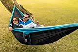 Double-Camping-Hammock-With-Straps--UNIQUE-4in1Complete-Fast-Setup-Hammocks-Bundle-Waterproof-Lightweight-Parachute-Nylon-in-Compression-Tree-Sack