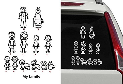 family stickers for back of car - 9