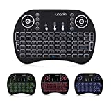 DOLAMEE Backlight Mini Wireless Keyboard with Touchpad Mouse 2.4GHz LED Backlit Multi-media Handheld Android Keyboard for TV Boxes/ Google Android TV/HTPC