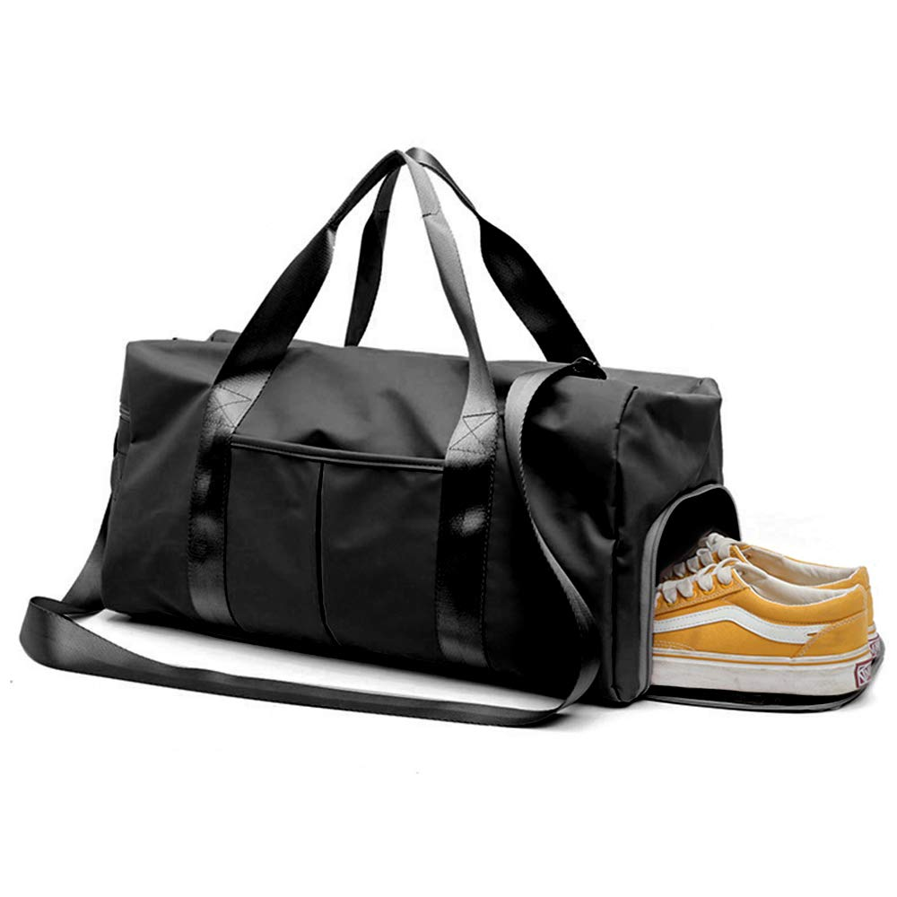8ce49135c353 Yugefom Dry Wet Separated Gym Bag, Sport Gym Duffle Holdall Bag Training  Handbag Yoga bag Travel Overnight Weekend Shoulder Tote Bag with Shoes ...