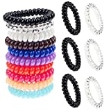Fabulous Premium Quality Hair Styling Hairdos Set Kit With 3 Clear / Transparent, 3 Black And 10 Mixed Colours Spiral Plastic Traceless Coils / Wires / Hair Bobbles / Bands By VAGA®