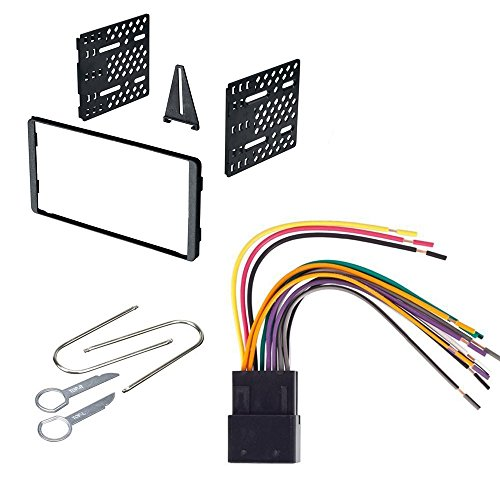 CAR RADIO STEREO CD PLAYER DASH INSTALL MOUNTING KIT HARNESS FORD MERCURY 1998 1999 2000 2001 2002 2003 2004 2005 2006 2007 (Radio Removal Tool Saab)