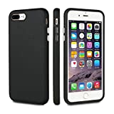 FRIFUN iPhone 7 Plus Case, iPhone 8 Plus Case,Dual Guard Protective Shock Absorbing Case Scratch-Resistant Rugged Drop Protection Cover for iPhone 7 Plus/8 Plus (Black/Black)