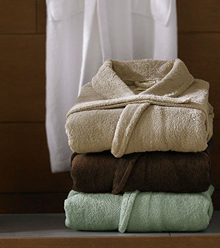 Anini Bamboo and Cotton Spa Bathrobe - White by Luxor Linens (Image #2)