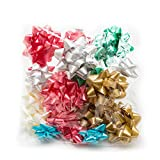 Hallmark Holiday Bow Assortment (20 Gift Bows, 2 Sizes) for Christmas Presents and Birthdays: more info