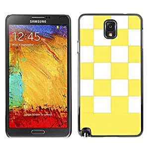 Graphic4You Checkered Pattern Design Hard Case Cover for Samsung Galaxy Note 3 (Yellow)