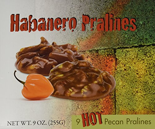 Habanero Pecan Pralines 9 Oz (255g) Chewy Caramel Pralines & Texas Pecans With A Spicy Kick Individually Wrapped