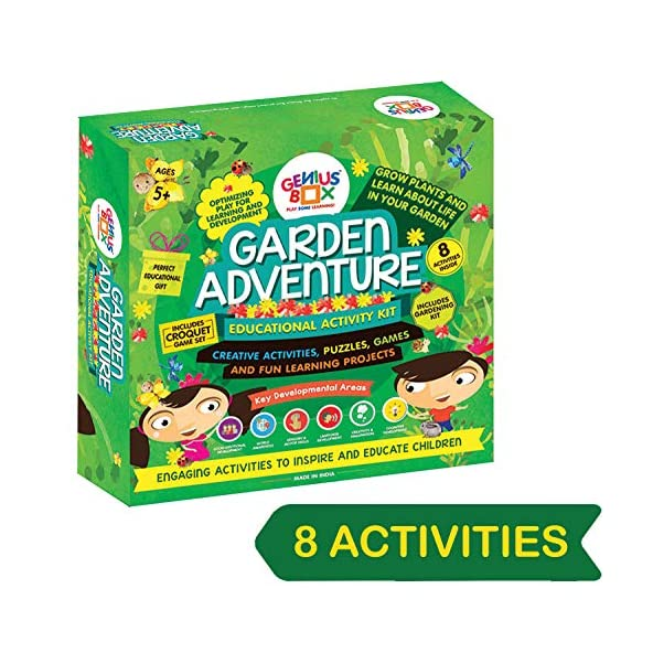 Genius Box Learning STEM Toy for 5+ Year Age: Garden Adventure DIY,Activity Kit, Learning Kit, Educational Kit