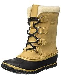 Sorel - Women's Caribou Slim Rain Boot, 6 B(M) US, Curry/Black