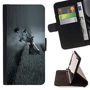 For HTC Desire 820 - dark side pole vorony devushka /Funda de piel cubierta de la carpeta Foilo con cierre magn???¡¯????tico/ - Super Marley Shop -