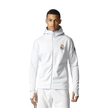 8ccf33462 Real Madrid Z.N.E. Anthem Jacket 2016 2017 - White - M  Amazon.ca ...
