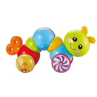 Toyvian Premere Toy Caterpillar Spingere giocattolo attività giocattolo per bambini bambini Toddler (colore casuale)