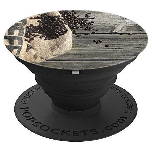 Illustration Abstract Burlap Coffee Background Pop-Socket - PopSockets Grip and Stand for Phones and (Phone Coffee)