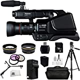 Panasonic HC-MDH2 AVCHD HCMDH2 Shoulder Mount Camcorder (PAL) With 16GB SSE Package Bundle Including: .43x Wide Angle & 2.2x Telephoto Lenses + MORE - International Version (No Warranty)