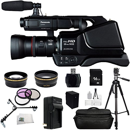 Panasonic HC-MDH2 AVCHD HCMDH2 Shoulder Mount Camcorder (PAL) With 16GB SSE Package Bundle Including: .43x Wide Angle & 2.2x Telephoto Lenses, 3 Piece Multi-Coated Filter Kit + MORE by SSE