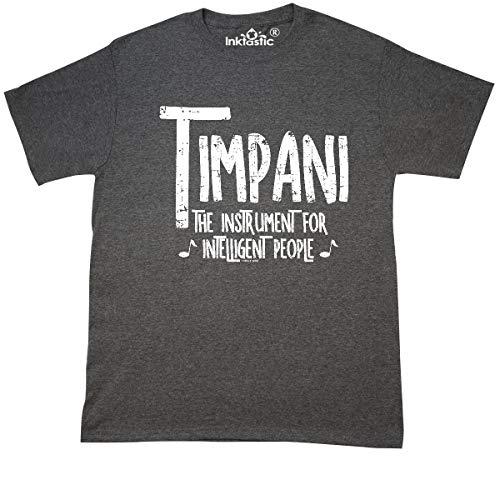 inktastic Intelligent Timpani Rough White T-Shirt XXX-Large Retro Heather Black