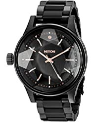 Nixon Womens A409957 Facet 38 Analog Display Japanese Quartz Black Watch