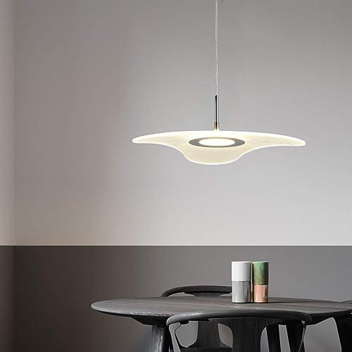 Acrylic LED Modern Chandelier Light Stylish Pendant Light Decorative Hanging Light Kitchen Light 18W 120V 3000K Warmwhite