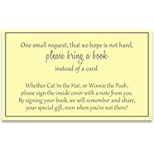 Gender Neutral Baby Shower, Bring a Book Inserts, Yellow and Gray, Poem, Printed Instert Cards, Free Shipping, YELLO, Request, Insert