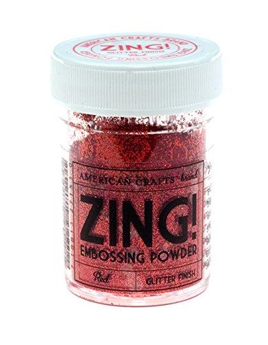 Zing! Glitter Embossing Powder 1-Ounce, Red (ZGE-27153) (Embossing Scrapbooking Glitter)