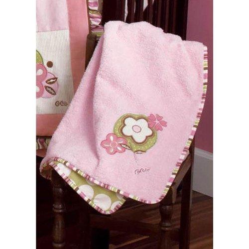 Appliqued Sherpa Blanket Baby Bedding - A La Mode Appliqued Sherpa Blanket (30 x 40)