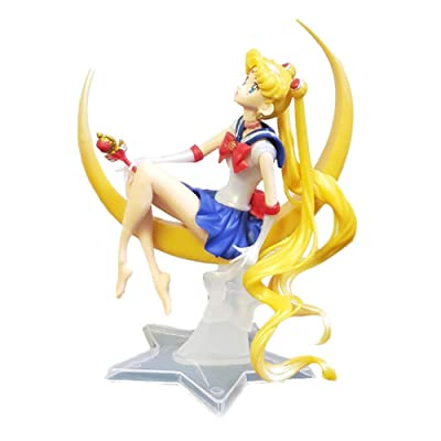 Kpop Space Sailor Moon Cake Decoration Action Anime Figure: Toys & Games