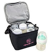 Breast Milk Baby Bottle Cooler Bag For Insulated Breastmilk Storage w/ Air Ti...