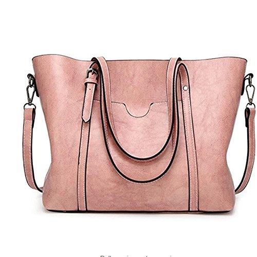 Women Printing Shoulder Bag PU Leather Purse Satchel Messenger Bag - 3