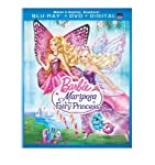 Cover Image for 'Barbie Mariposa & the Fairy Princess (Blu-ray + DVD + Digital Copy + UltraViolet)'