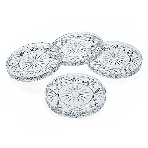 Godinger Crystal Dublin Coasters, Set of 4