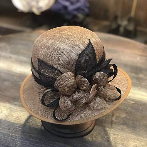 AMYNI Shop Natural Yarn Linen Quality Lady Bucket Cap Women Leisure hat Khaki