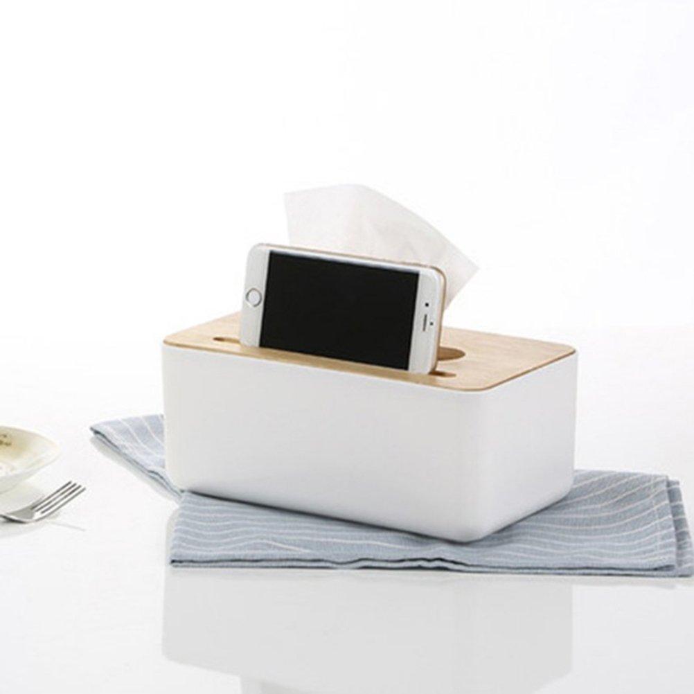 Ounona en bois Tissue Bo/îte rectangulaire /à mouchoirs visage pour Home Office 23/x 13/x 10/cm Original Couleur